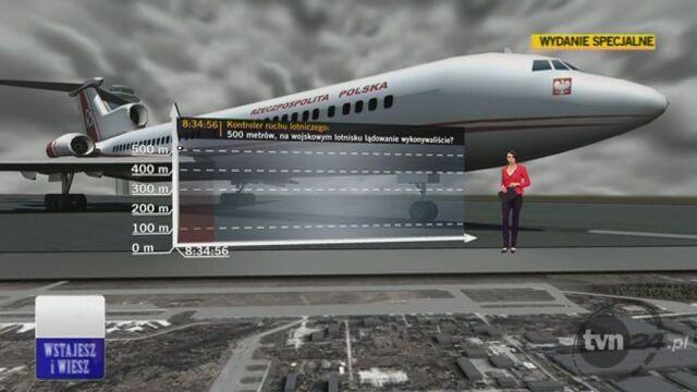 Zobacz stenogram rozmowy z kokpitu Tu-154 (TVN24)