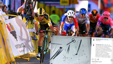 Mocno ucierpiał w wypadku w Tour de Pologne. Pokazał zdjęcie z sali zabiegowej