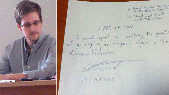 Wniosek o azyl ręcznie pisany.  Snowden pójdzie w ślady Depardieu?