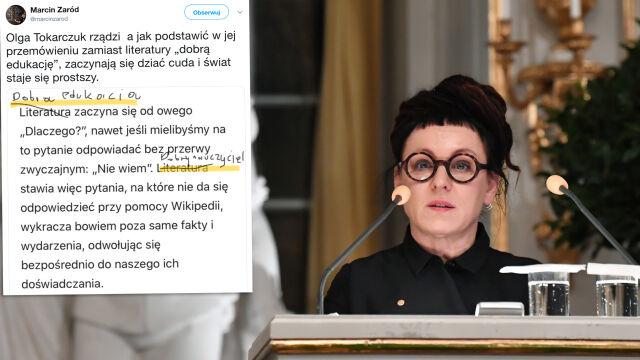 """""""Od fake newsów po rolę literatury"""".  Mowa Olgi Tokarczuk trafia do szkół"""