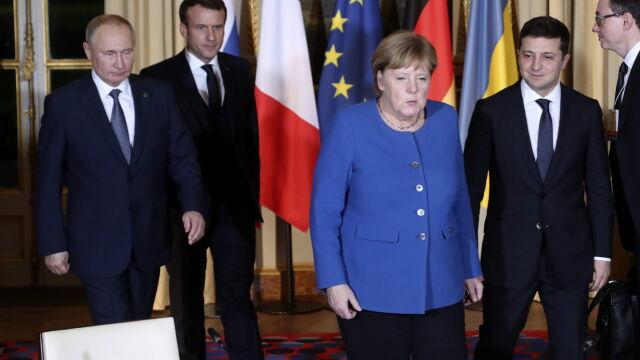 Putin i Zełenski twarzą w twarz. Ruszył szczyt w Paryżu