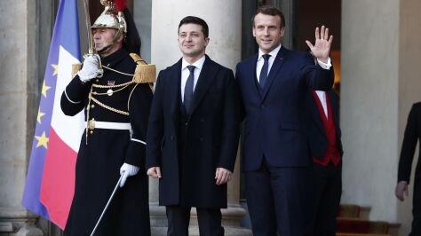 Putin i Zełenski twarzą  w twarz. Szczyt w Paryżu