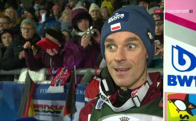 Piotr Żyła po niedzielnym konkursie w Klingenthal