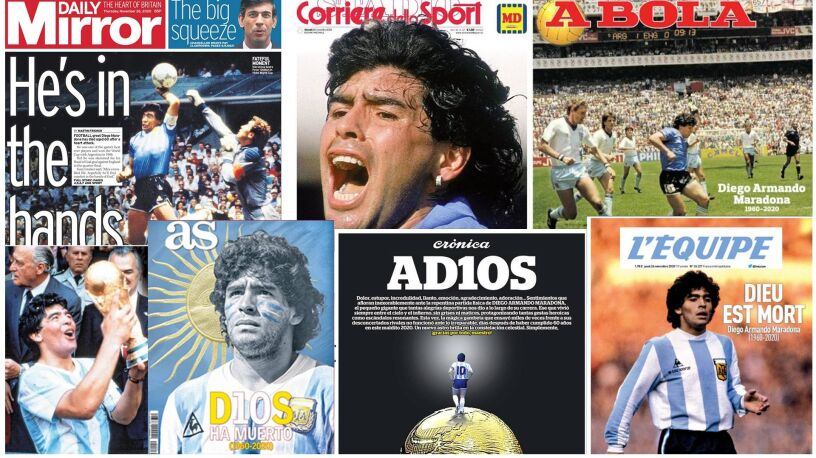 """AD10S"", ""W rękach Boga"". Świat żegna Diego"