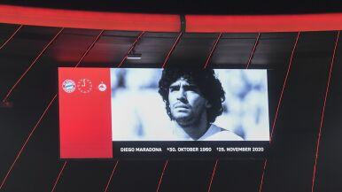 Po meczu pożegnał Maradonę