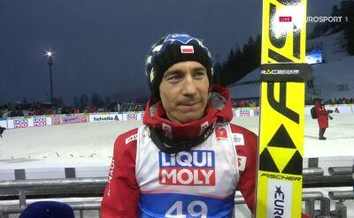 Kamil Stoch po konkursie na skoczni normalnej