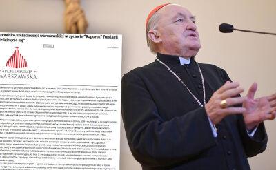 """Archidiecezja warszawska odnosi się do raportu Fundacji """"Nie lękajcie się"""""""