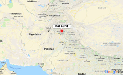 Balakot znajduje się przy granicy z Kaszmirem