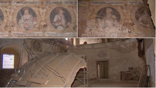 """""""Ktoś puknął młotkiem i sensacja gotowa"""". W pałacu odkryli malowidła sprzed niemal 500 lat"""