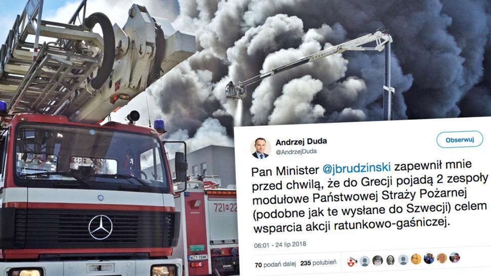 Polscy strażacy pomogą Grekom. Uruchomiono europejski mechanizm ochrony ludności