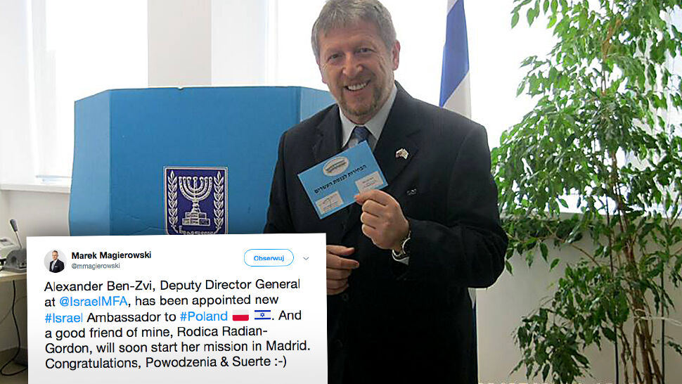 Alexander Ben Cwi ma zostać ambasadorem Izraela w Polsce