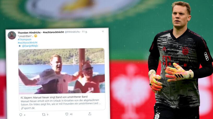 """Neuer zaśpiewał piosenkę kontrowersyjnego zespołu i spotkał się z krytyką. """"Nie zna chorwackiego"""""""
