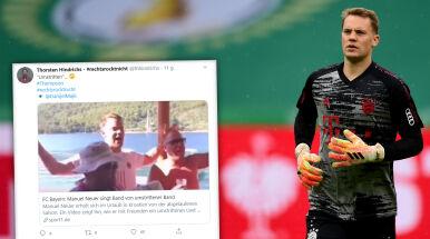 Neuer zaśpiewał piosenkę kontrowersyjnego zespołu i spotkał się z krytyką.