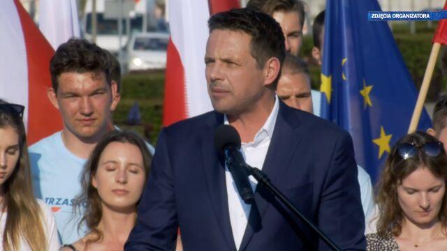 Rafał Trzaskowski na wiecu w Gdyni