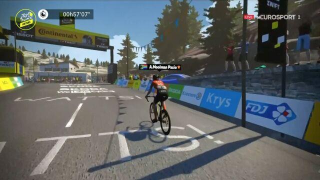 Królewski etap Wirtualnego Tour de France. Kolarka CCC-Liv w swojej lidze
