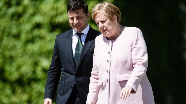 Dreszcze i lekki dygot. Upał pokonał kanclerz Niemiec