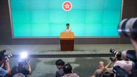 """Szefowa rządu Hongkongu przeprasza i prosi o """"jeszcze jedną szansę"""""""