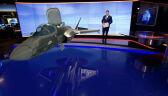 Myśliwiec F-35 w studiu TVN24 BiS (2017 rok)