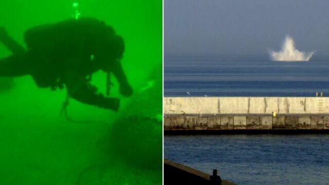Plaże zamknięte, 60 saperów pod wodą. Zdetonowali minę z gdyńskiego portu
