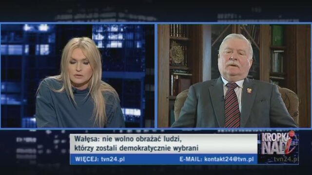 Lech Wałęsa o reformie emerytalnej (TVN24)