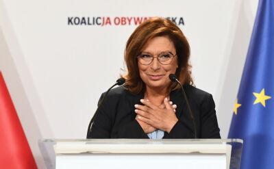 Małgorzata Kidawa-Błońska kandydatką Koalicji Obywatelskiej na premiera