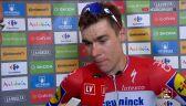Jakobsen po wygraniu 21. etapu Vuelta a Espana