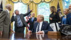 Trump przyjął astronautów w Białym Domu
