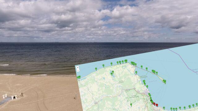 Czerwone flagi na siedmiu gdańskich plażach. Przez sinice i silny wiatr