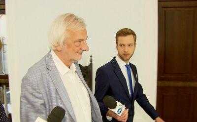 """""""Jaki był powód zawieszenia posła Pięty""""?. Wicemarszałek Terlecki nie odpowiedział"""