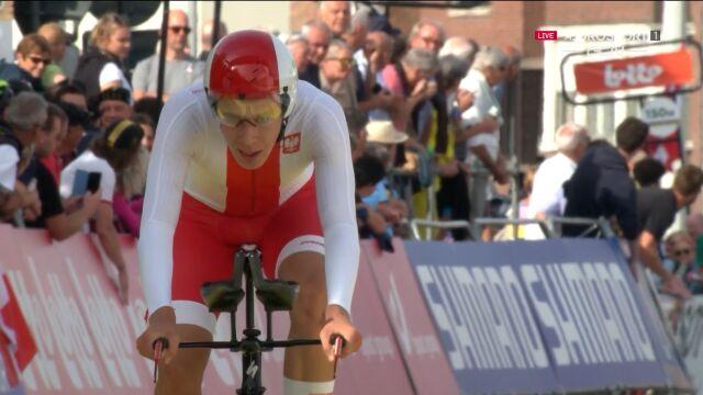 Gieryk 12. w jeździe indywidualnej na czas juniorów w mistrzostwach świata