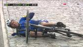 Upadek Cavendisha w końcówce wyścigu Nokere Koerse