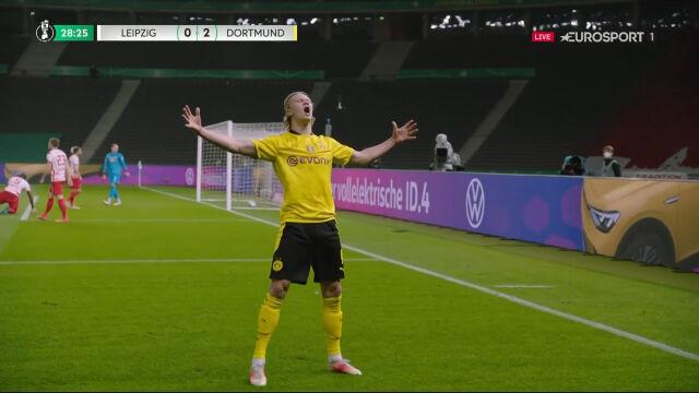 Puchar Niemiec. RB Lipsk – Borussia Dortmund 0:2. Gol Erling Haaland