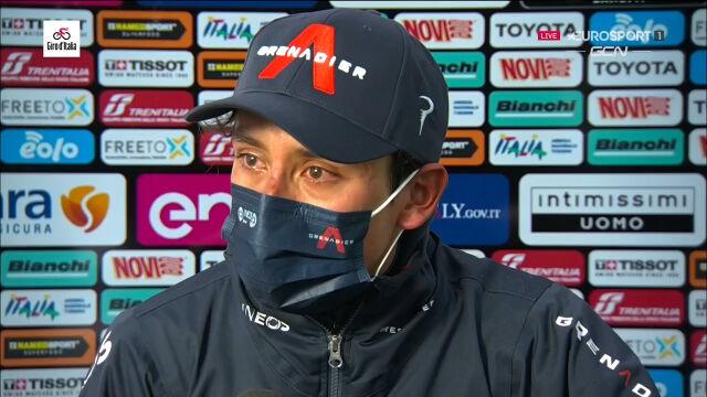 Bernal po wygraniu 9. etapu Giro d'Italia