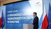 Michał Dworczyk zaprezentował projekt ustawy w sprawie lotów najważniejszych osób w państwie