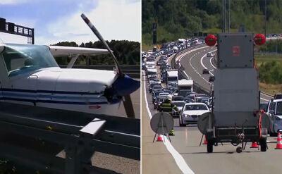 Chorwacja. Awaryjne lądowanie małego samolotu na autostradzie