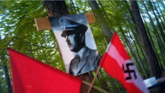 A far-right organisation has been caught on camera during celebrating Adolf Hitler's birthday anniversary in a forest