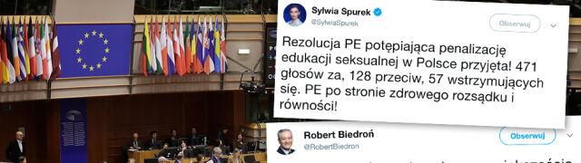 Głosowanie europarlamentu w sprawie edukacji seksualnej nie po myśli PiS