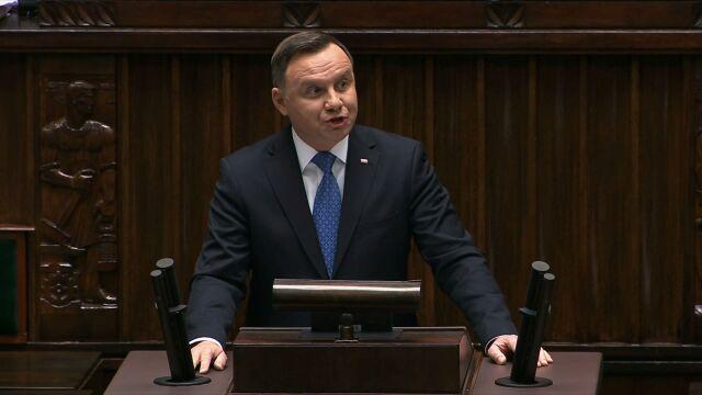 Prezydent RP Andrzej Duda w parlamencie