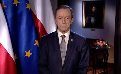 Nowo wybrany marszałek Senatu Tomasz Grodzki wygłosił orędzie