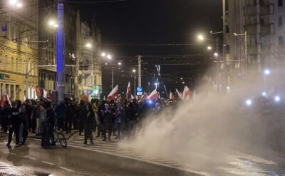 Jacek M. był jednym z liderów marszu narodowców we Wrocławiu (wideo archiwalne)