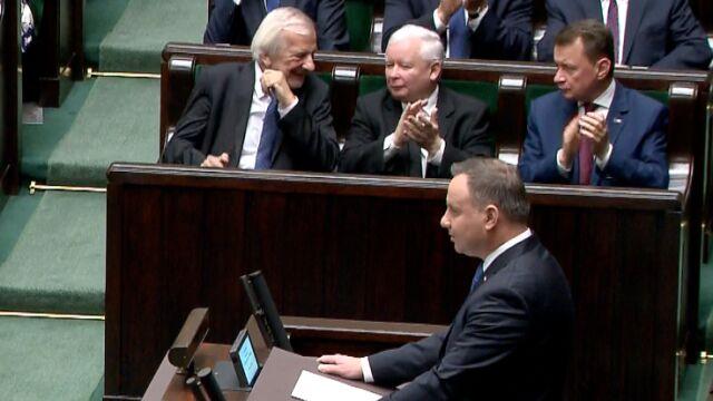 Andrzej Duda: to niezwykły zaszczyt dla mnie otwierać wraz z państwem to pierwsze posiedzenie IX kadencji Sejmu suwerennej RP