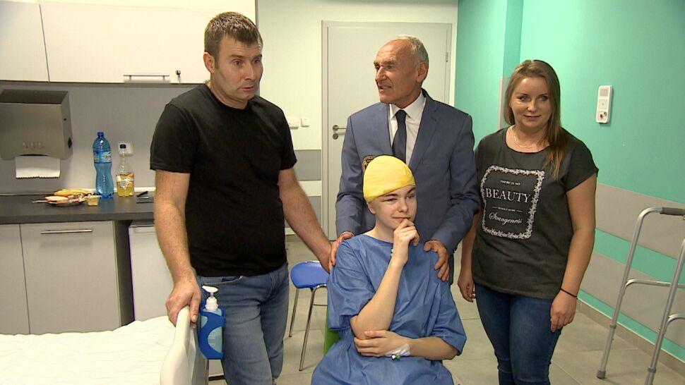 Patryk otarł się o śmierć, miał dziurę  w czaszce. Wszczepili mu implant