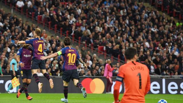 Tottenham gonił, Messi odpowiadał. Sześć goli i widowisko na Wembley