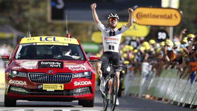 Do trzech razy sztuka. Marc Hirschi w końcu wyszarpał zwycięstwo w Tour de France