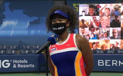 Osaka po awansie do ćwierćfinału US Open