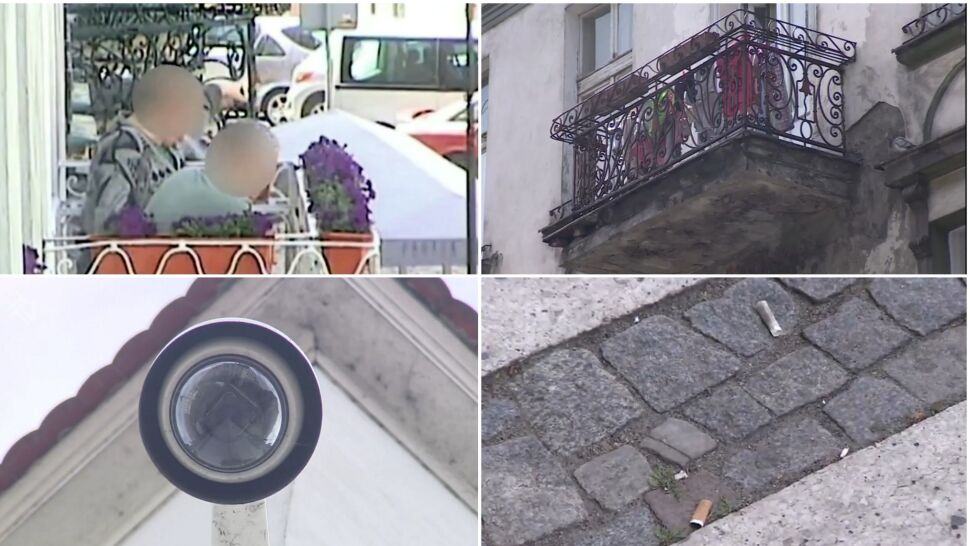 Dostał mandat za rzucanie niedopałków z balkonu. Wyśledziła go kamera miejskiego monitoringu