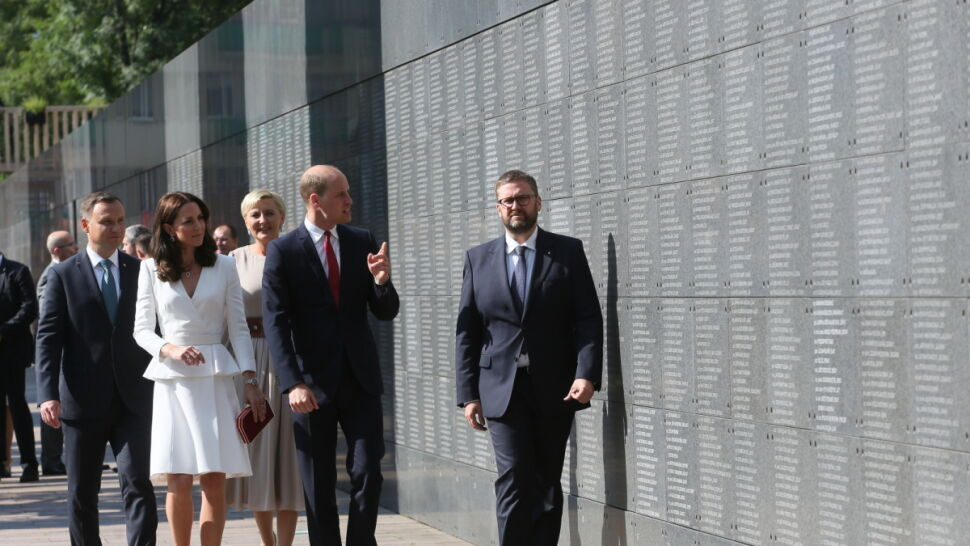 The royal couple visited the Warsaw Rising Museum