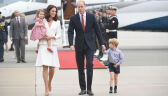 The royal couple arrived in Warsaw