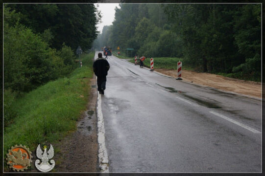 Modernizowana droga Gołdap - Kowale Oleckie