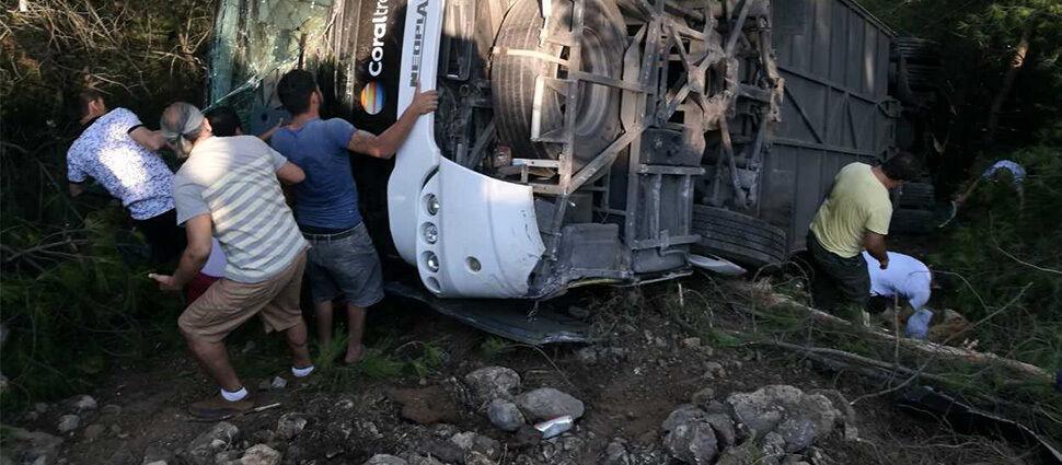 Wypadek autokaru z polskimi turystami w Turcji
